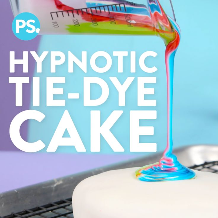 If you are the kind of person who loves watching paint being mixed or are mesmerized by the milk, food coloring, and soap experiment, then this is the dessert for you! Create a stunning tie-dye frosting in a matter of minutes with this incredibly easy hack to frost a cake.