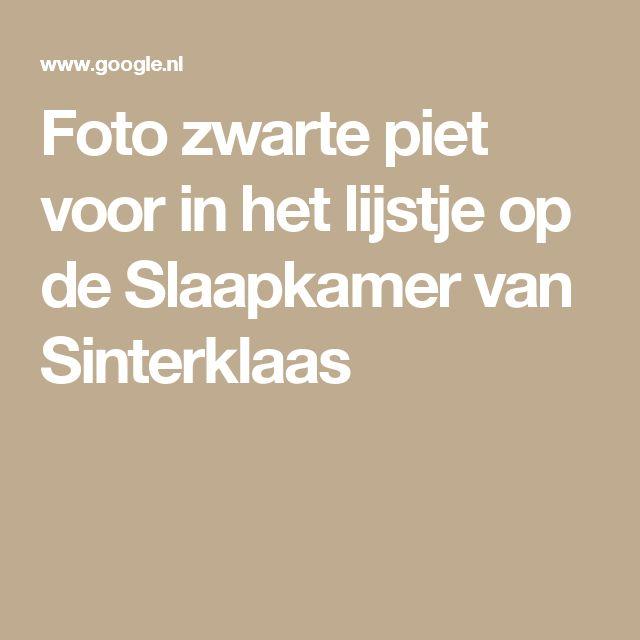 Foto zwarte piet voor in het lijstje op de Slaapkamer van Sinterklaas