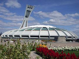 Olympic Stadium in Montreal, Quebec, was originally built as the main facility for the 1976 Summer Olympics.