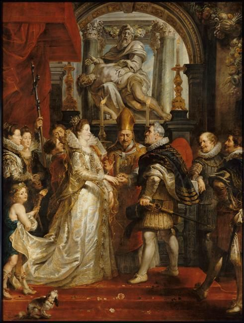 Le Mariage par procuration de Marie de Médicis et d'Henri IV, à Florence le 5 octobre 1600 - by Rubens Pierre Paul (1577-1640)