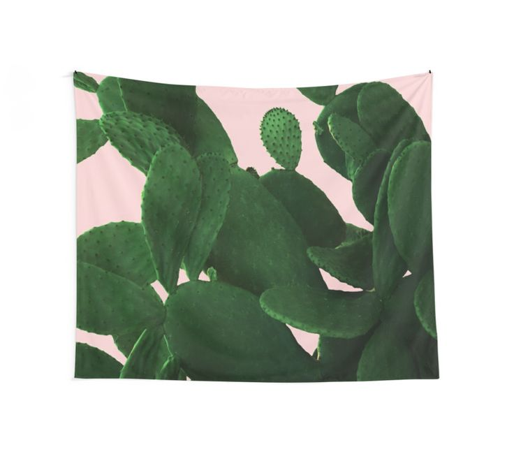 Cactus On Pink Wall Tapestry by ARTbyJWP from Redbubble #walltapestry #tapestry #walldeco #cactus #greenandpink --    Close-up of a big cactus on a pink background. • Also buy this artwork on home decor, apparel, stickers, and more.