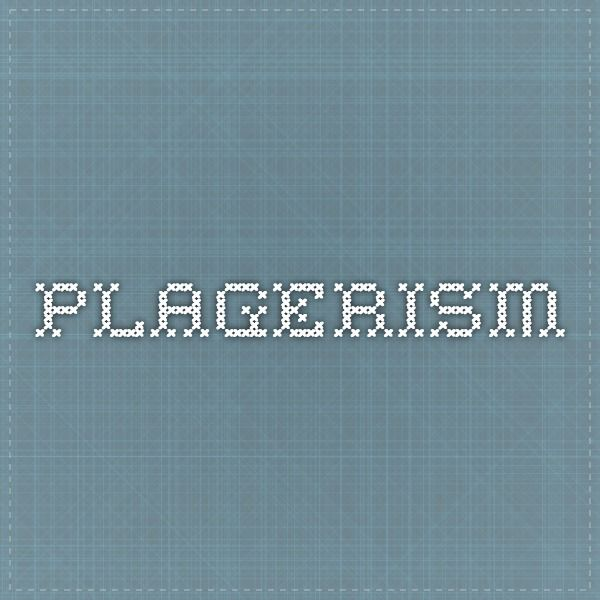 Plagerism