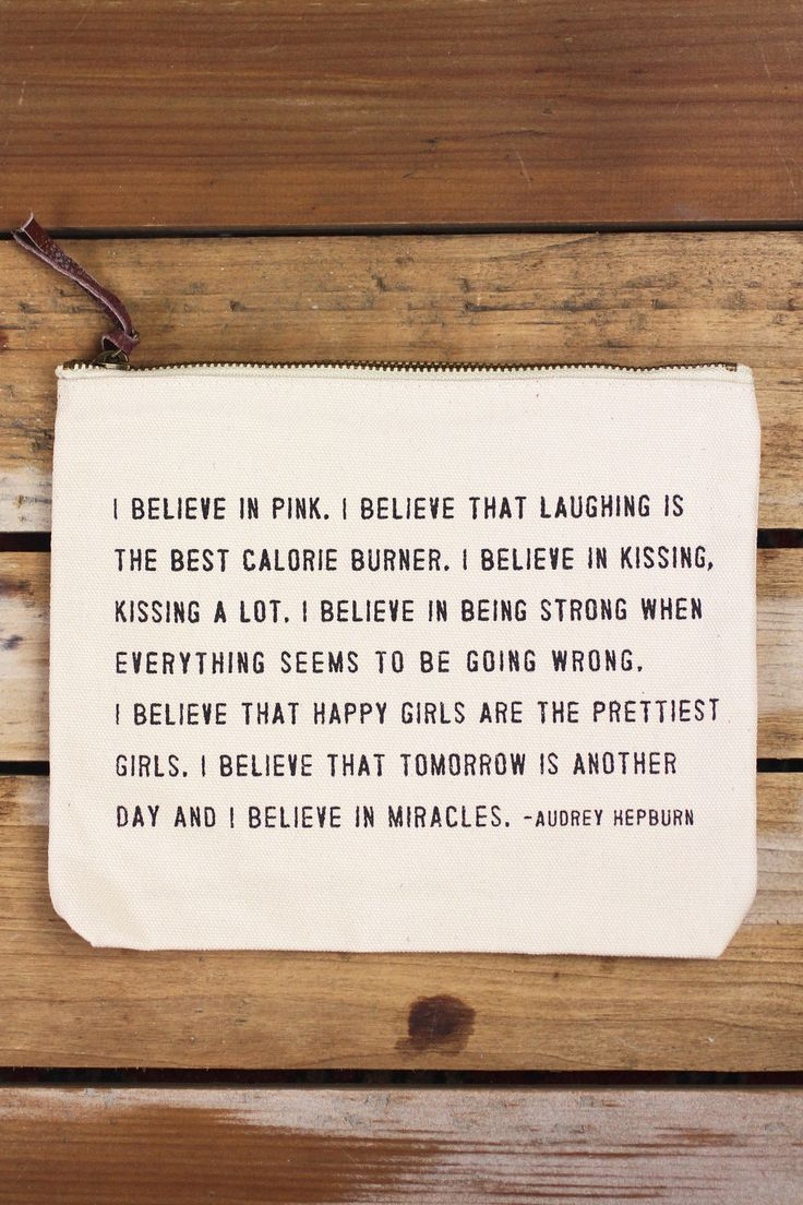 Sugarboo Designs 'I Believe in Pink' Canvas Pouch