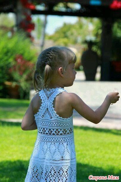 Добрый день дорогие умелицы Мамочки:-) У кого есть описание этого сарафанчика, помогите Спасибо!!!