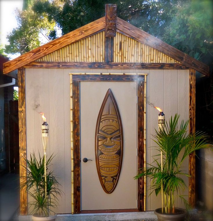 Backyard Tiki Shed-Bar