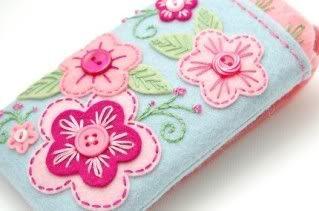 iphone case felt embroidery