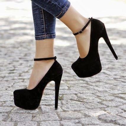 Cool Ankle Strap Black High Heels Make Your Standard High