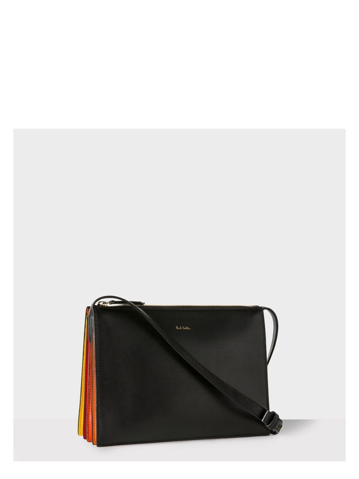 Paul Smith Women's Black And Red 'Concertina' Cross-Body Bag Image 0