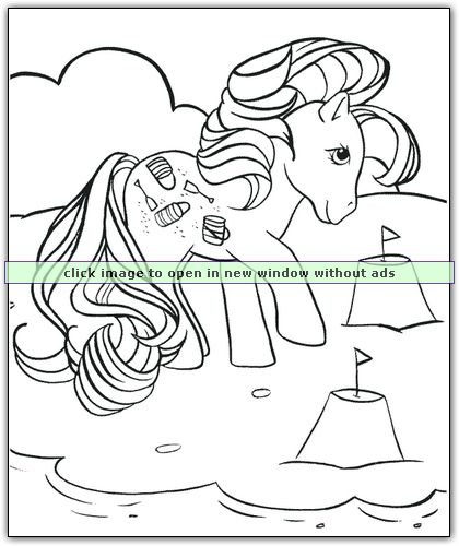 My Little Pony Beach Themed Coloring Page The Perfect Summer Activity