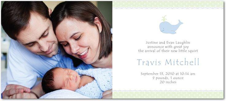Little Squirt: Light Blue - Studio Basics: Birth Announcements in Light Blue | Tiny Prints Studio Basics