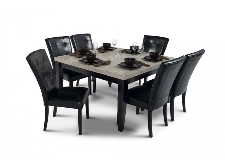 montibello 54 x 54 dining 7 piece set room set bobs and dining rooms. Black Bedroom Furniture Sets. Home Design Ideas