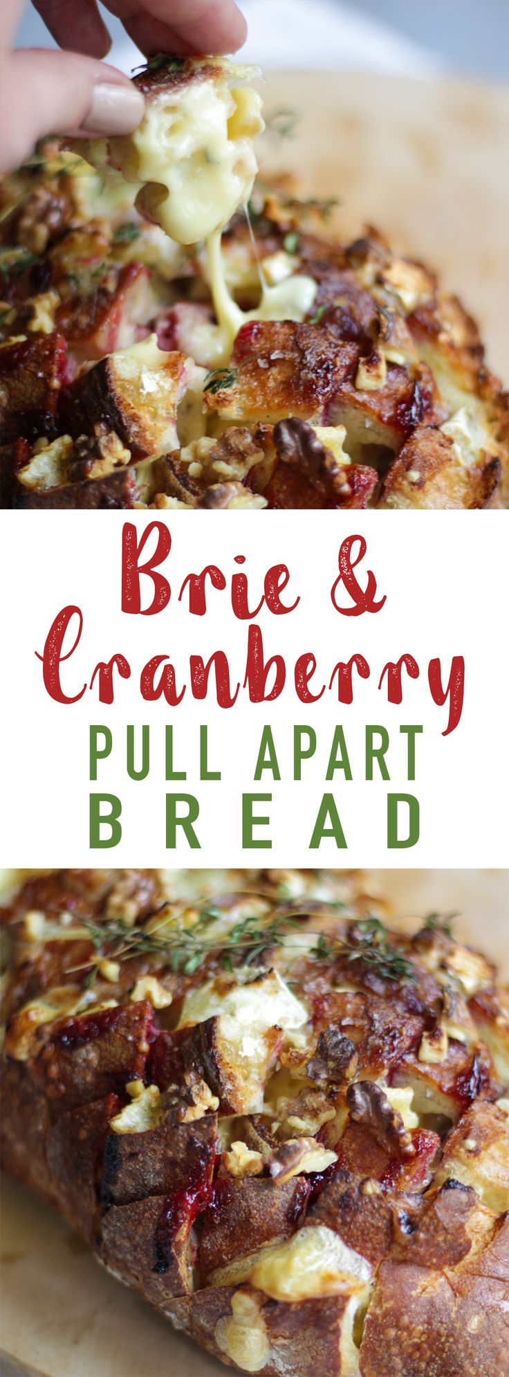 Easy and delicious Brie and Cranberry Pull Apart Bread. The ideal festive Christmas loaf to make for a party. #ChristmasFood
