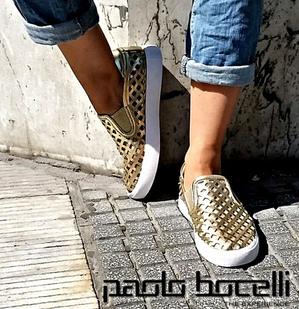 χρυσά slipon στα 21,00€ shop now @ https://goo.gl/LSfeKg ‪#‎paolobocelli‬ ‪#‎shoes‬ www.paolobocelli.com