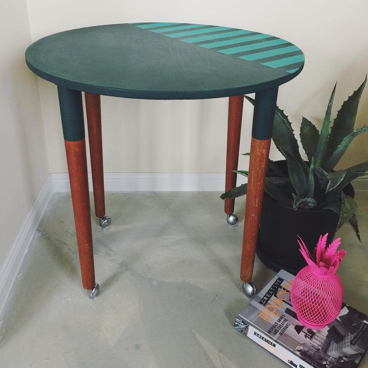 "57 Likes, 5 Comments - Polly Coulson (@attic.furniture.qld) on Instagram: ""Green retro table just about to go live at the etsy shop peeps #colourpop #interiordesign…"""