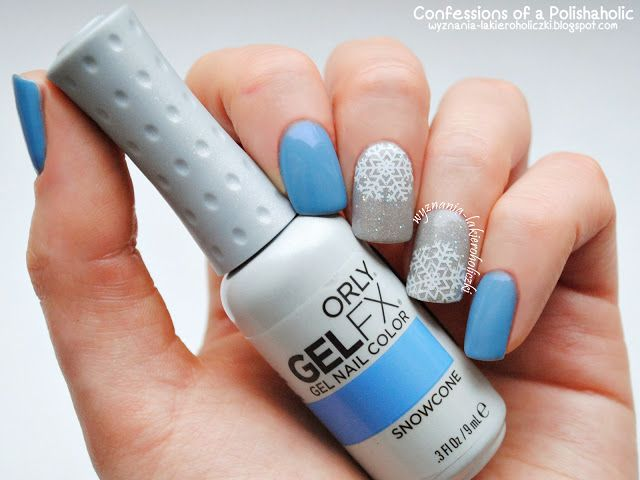 Confessions of a Polishaholic: Winter with Orly GelFX Snowcone & Mirroball