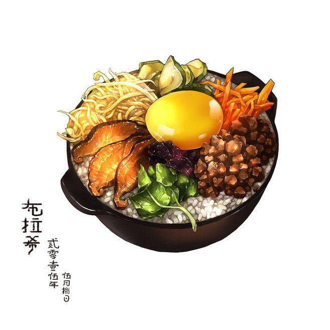Les 335 meilleures images du tableau anime food sur for Peinture alimentaire cuisine