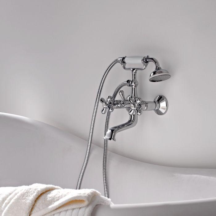 melangeur bain mural retro douchette
