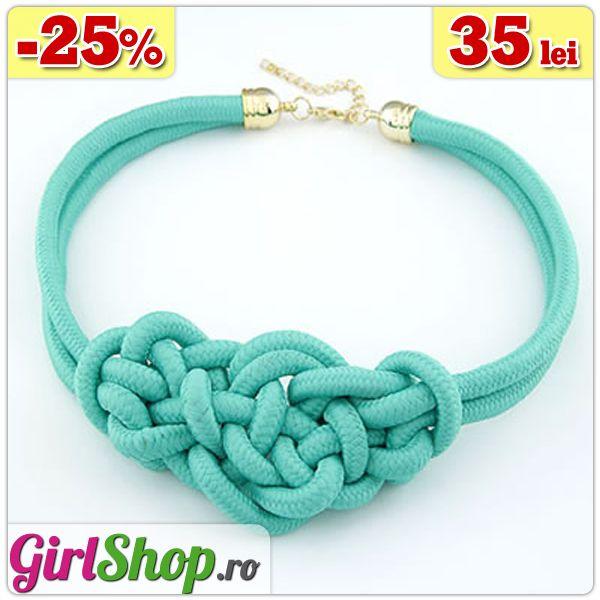 Colier turcoaz impletit -> doar 35 lei http://www.girlshop.ro/cumpara/colier-turcoaz-impletit-86  #colier #turcoaz #coliere #bijuterii #accesorii #fashion #jewelry #bijoux #girlshop
