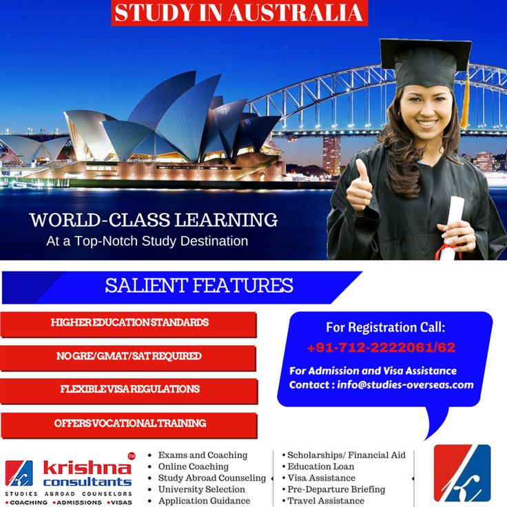 Learn everything you need to know about studying in #Australia. http://goo.gl/Hbv4AE  #studyabroad
