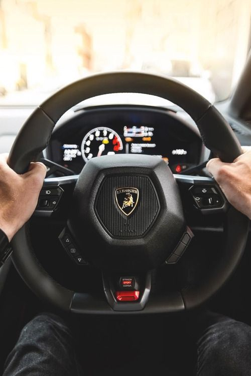 Lamborghini Huracan Steering Wheel Interior Shots Cars
