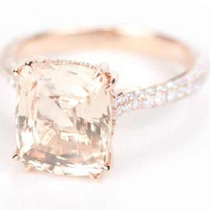 light champagne diamond cushion engagement ring - Google Search This is a CIERA ring!!!!