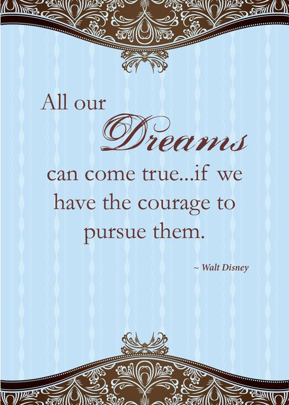 Print of quote from Walt Disney All our by SoftlySpokenDesigns, $20.00