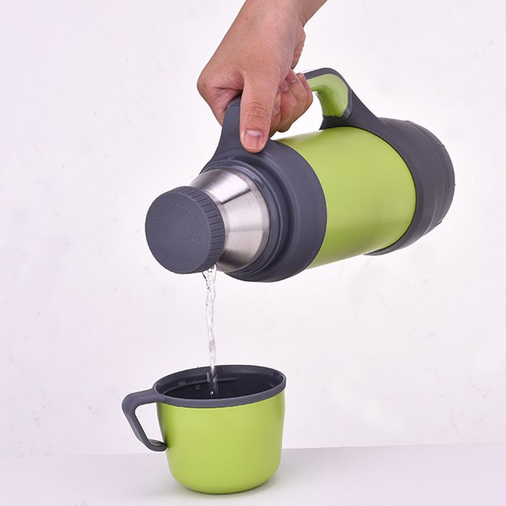 vacuum flasks thermoses stainless steel 1L, 1.2L big size outdoor travel cup thermos bottle thermal coffee garrafa termica sport