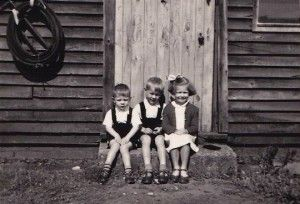 Wies and Zen Rogalski and friend Hania, at Tweedsmuir Camp, 1950s (SHC ref 9196/3/3) courtesy ofThe Tweedsmuir Project)