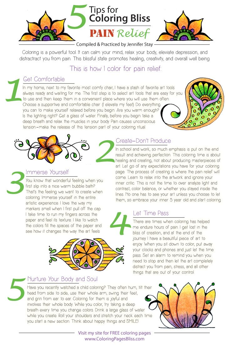 5 Tips For Coloring Pain Relief By Pages Bliss I Use These