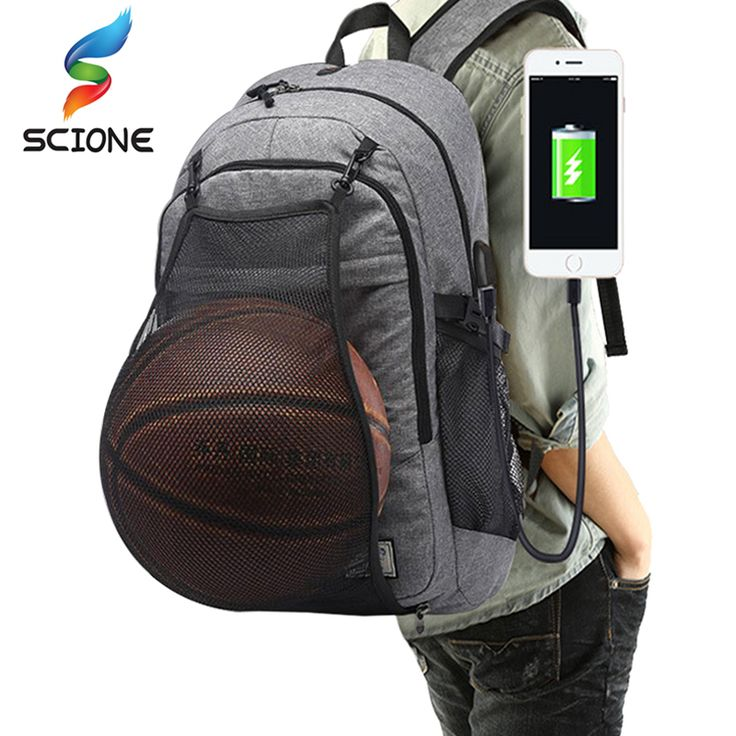 Outdoor Sports Basketball Backpack Men Travel Backpack For Teenager School Pack Laptop Bags Football Net Gym Training Bags Male