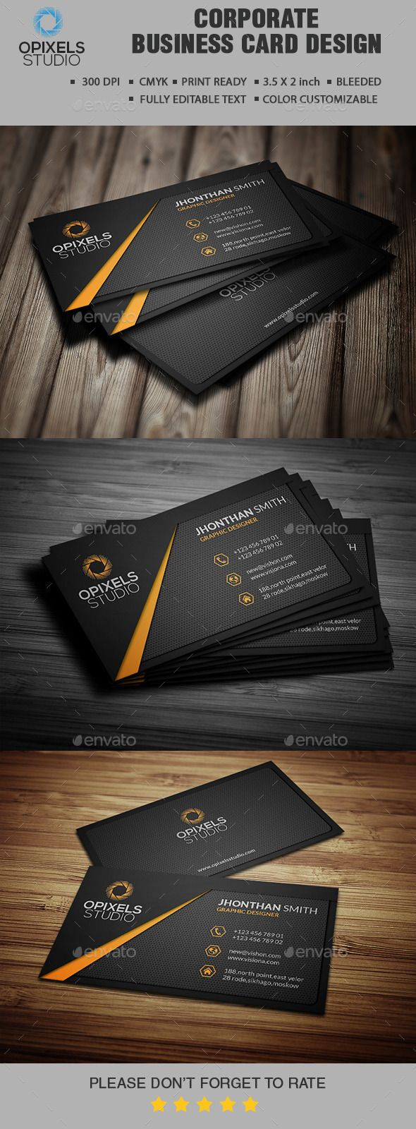 Corporate Business Card Design Tempalte Download: http://graphicriver.net/item/corporate-business-card-/12942401?ref=ksioks