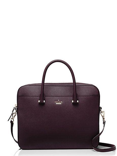 13 inch saffiano laptop bag / Kate Spade