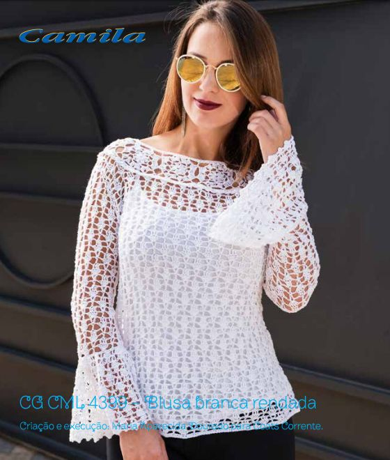 665 best blusas crochet V images on Pinterest | Tops de ganchillo ...