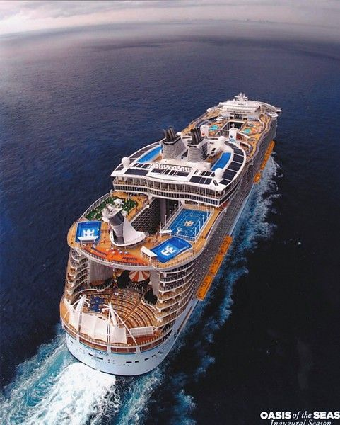 Oasis of the Seas...she's big, beautiful and sailing the Caribbean every week out of Miami.