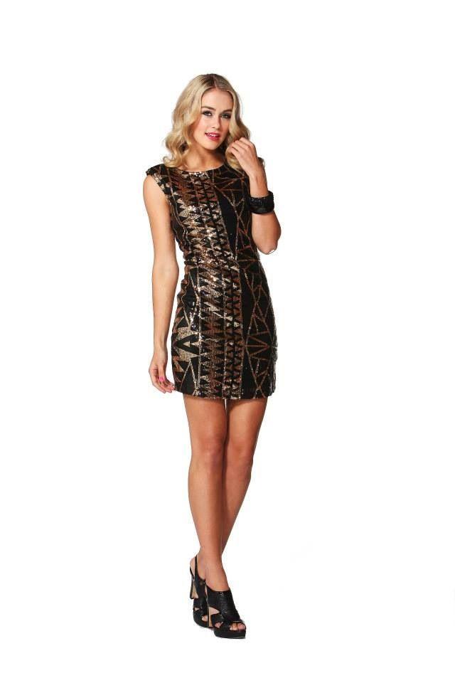 Blaze of glory sequin dress  Bubblesandbuttons.com.au