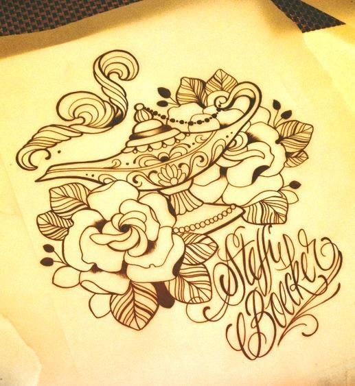 Tattoo Artwork by Steffi Boecker at Straight Ink in Brandenburg, Germany.