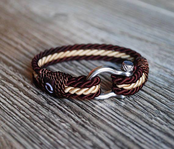 Brown Rope Bracelet Fancy Rope Bracelet Elegant Cord