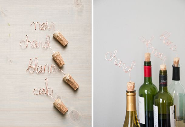 DIY Copper Script Wine Toppers: Gifts Ideas, Gift Ideas, Sf Gifts, Cool Ideas, House, Ideas Projects, Parties Style
