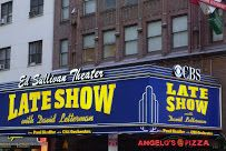 The Ed Sullivan Theater, Late Show with David Letterman 725 5th Ave, New York, NY 10022. Now replaced with Stephen Colbert' Late Show theater front neon sign.