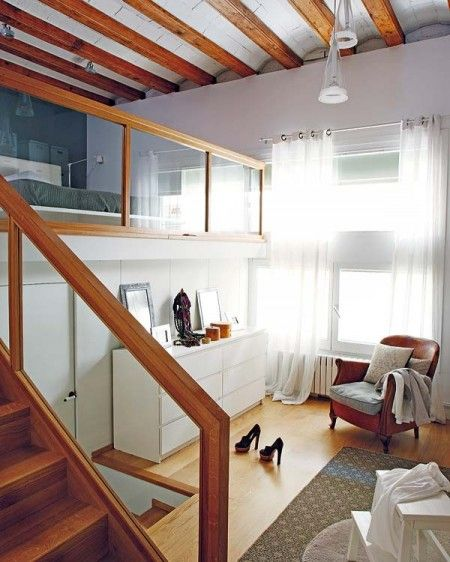 28 best images about small loft apartment on pinterest more micro apartment small apartments - Mezzanine bedlamp ...