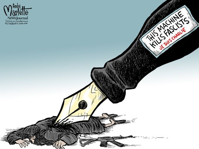 Cartoon appearing in USA Today by Andy Marlette