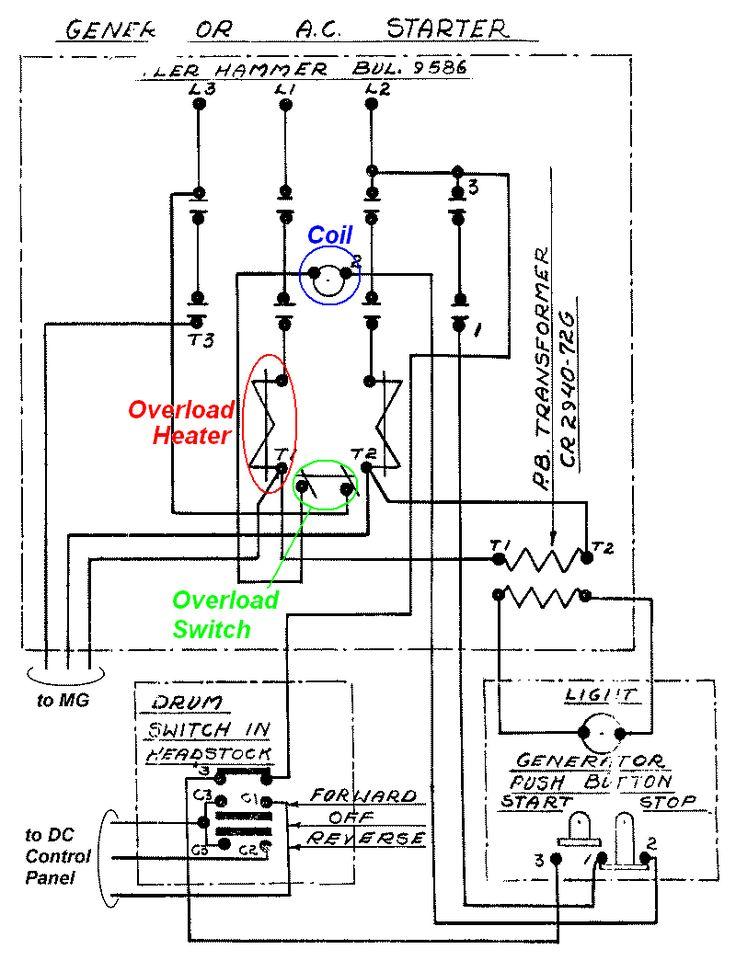 cutler hammer motor starter wiring diagram in allen bradley control diagrams on contactor symbol
