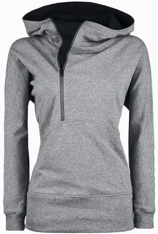 Grey Side Zip Hoodie