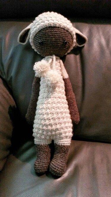Lupo the crochet lamb - made using lalylala pattern