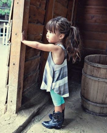 Cowboyboots | singlet dress Kidsfashion | streetstyle | kindermode |