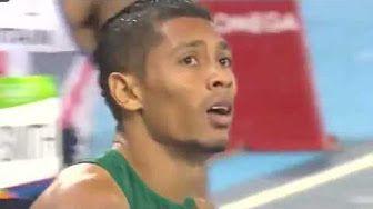 wayde van niekerk 400m world record - YouTube