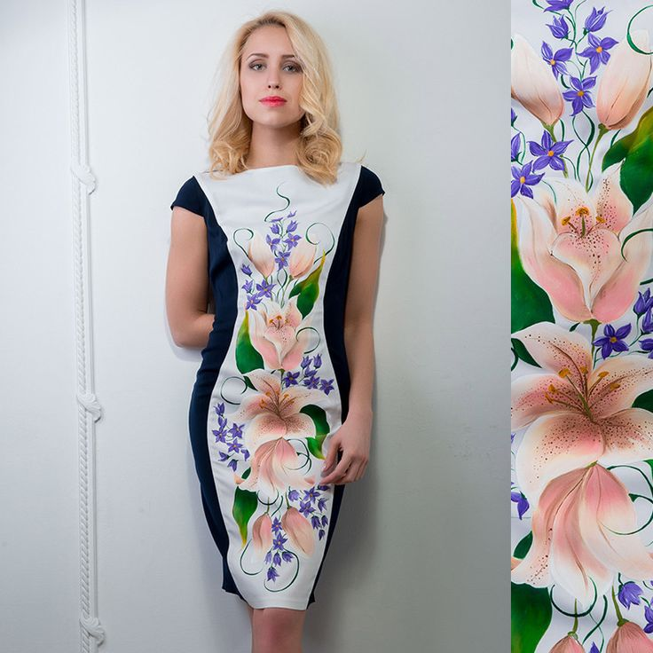 """Women's dress with hand-painting """"Lilly """""""