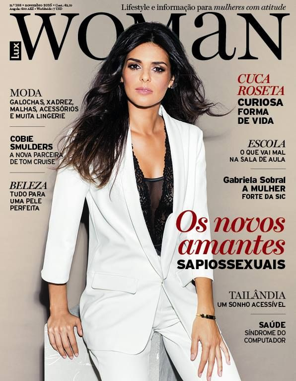 Cuca Roseta na revista LuxWoman Portugal Novembro 2016