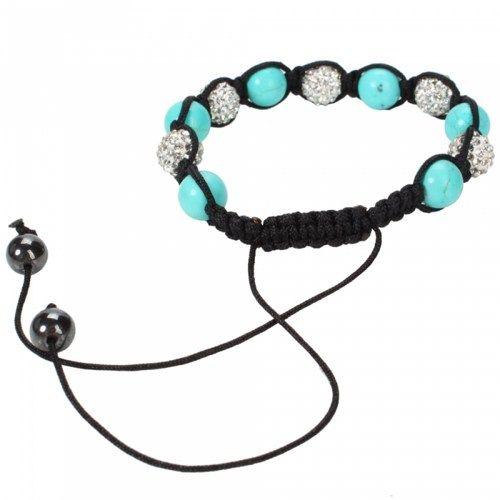 Fashion Turquoise & Rhinestone Bracelet | favwish - Jewelry on ArtFire