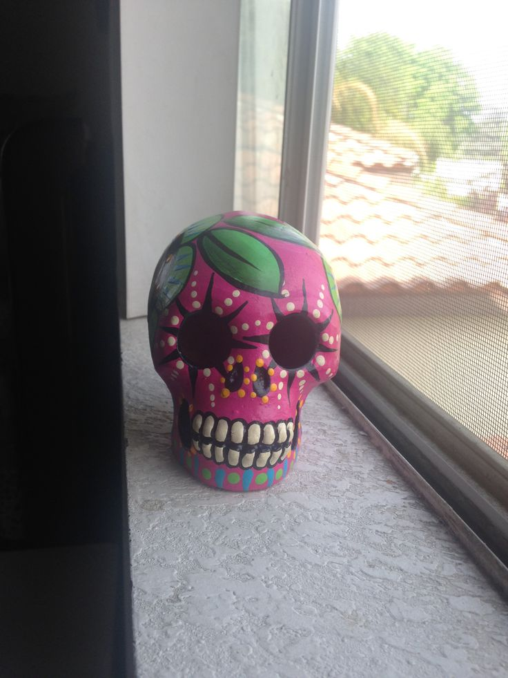 I purchased this skull in one of the little shops in La Placita Olvera.  My favorite one, so far.